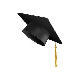 Graduação universitária boné preto