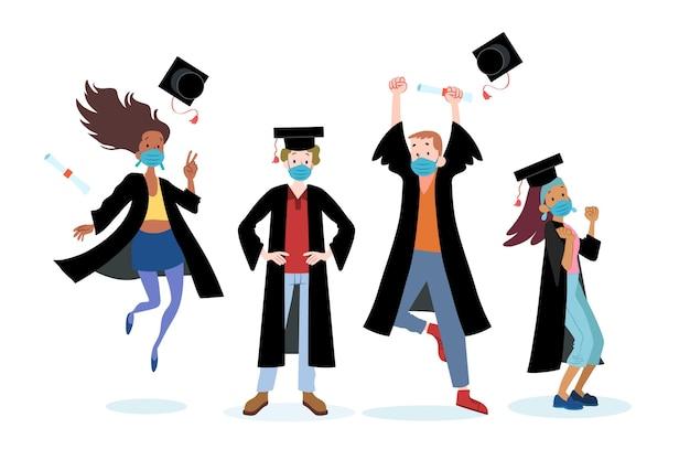 Graduados usando coleção de máscaras