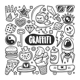 Graffiti mão desenhada doodle coloração