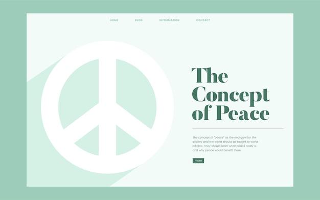Gráfica de site informativo de paz e liberdade
