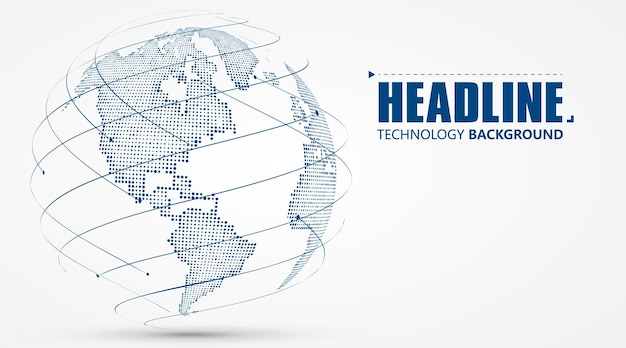 Gráfico 3d da terra que simboliza a ilustração do comércio global.