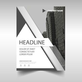 Gráfico cinza e criativo de relatório anual livro capa modelo
