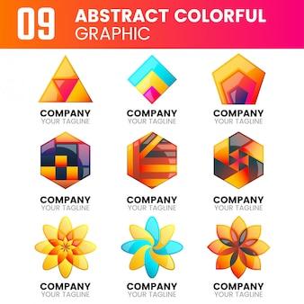 Gráfico colorido abstrato