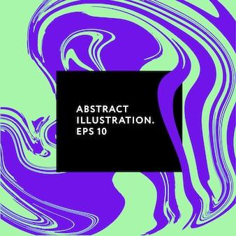 Gráfico da ilustração dos elementos da falha do moderno de memphis da arte fluida