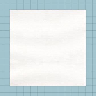 Gráfico de bloco de notas de grade quadrada em branco