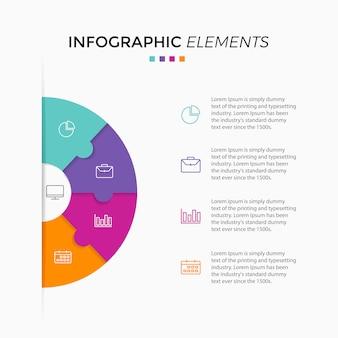 Gráfico de círculo infográfico