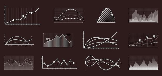 Gráfico de crescimento de moeda. gráficos de análise de mercado econômico e financeiro
