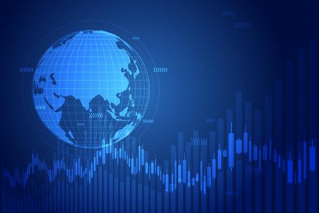 Gráfico de crescimento de negócios com a globo.
