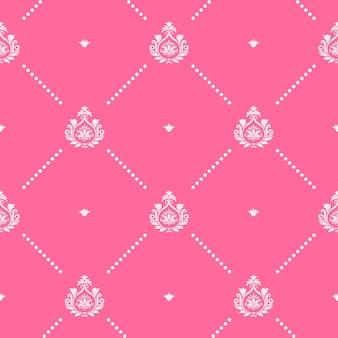 Gráfico de design de decoração padrão rosa sem emenda. para papel de parede