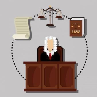 Gráfico de direito e justiça legal