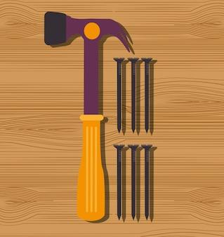Gráfico de ferramentas de reparo de construção