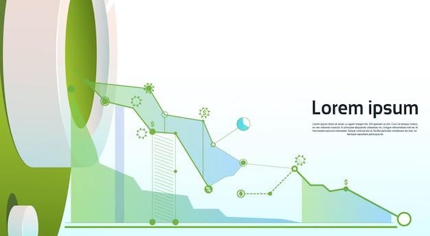 Gráfico de finanças de análise gráfico de negócios de finanças