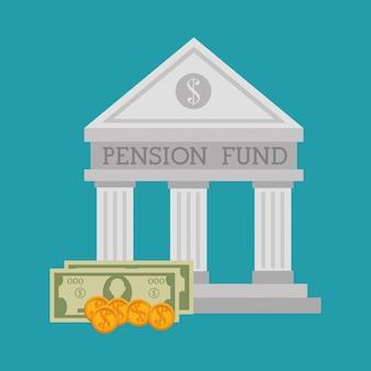 Gráfico de financiamento de pensão