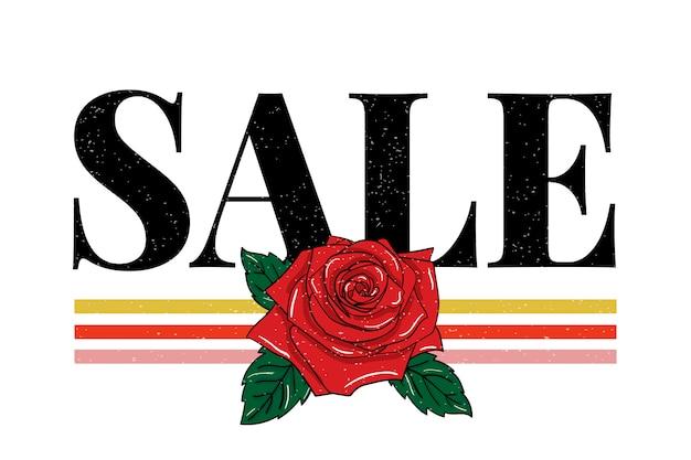 Gráfico de frase de venda de slogan impressão caligrafia de letras de moda