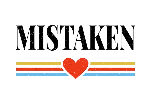 Gráfico de frase errada de slogan caligrafia de letras de moda