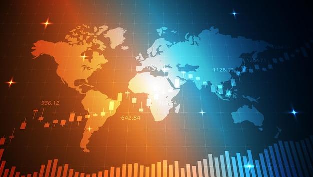 Gráfico de gráfico de bastão de vela comercial análise de big data visualização gráfico de informações de dados ponto de alta