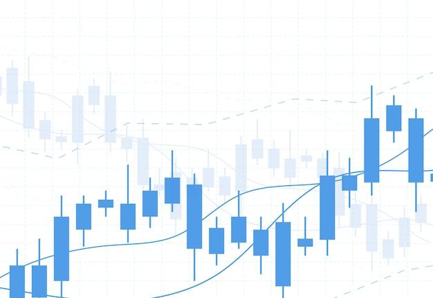 Gráfico de gráfico de pau de vela de negócios