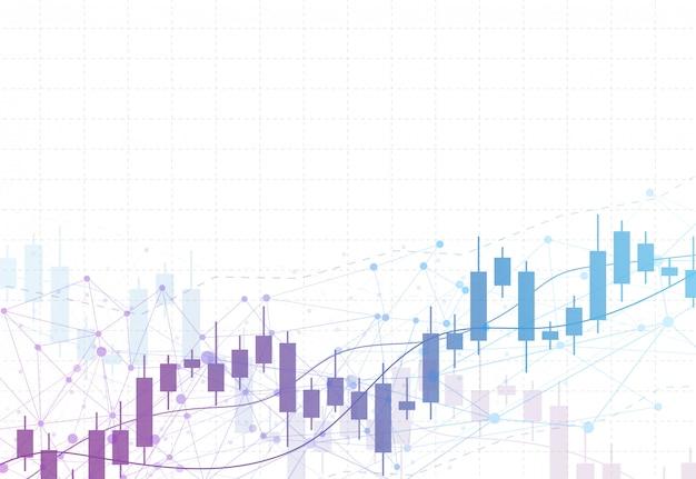 Gráfico de gráfico de vara de vela de negócios de investimento do mercado de ações