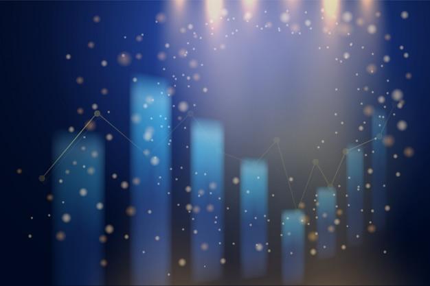 Gráfico de gráfico de vara de vela de negócios