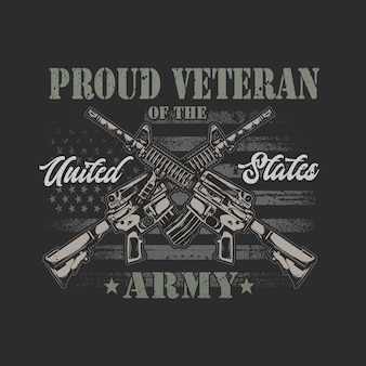 Gráfico de ilustração veterano americano