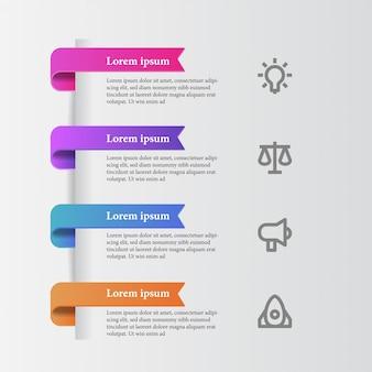 Gráfico de informação de beleza moderna elegante com ícone de negócios