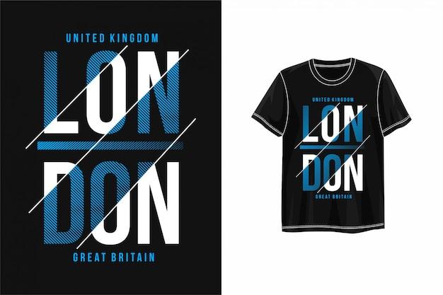Gráfico de londres da tipografia camiseta
