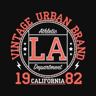 Gráfico de marca urbana vintage de los angeles califórnia para camiseta design de roupas originais com grunge