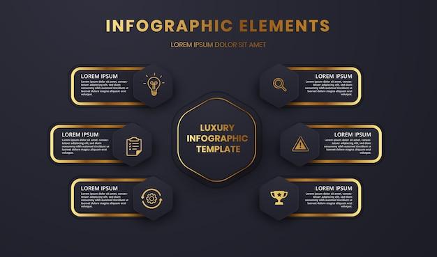 Gráfico de modelo de infográfico de luxo