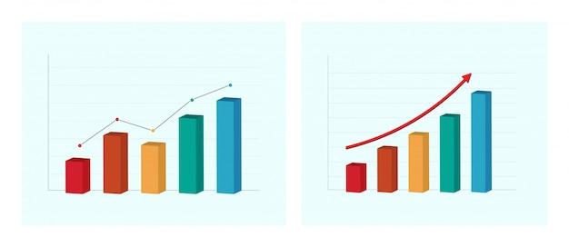 Gráfico de negócios e gráfico. apresentação