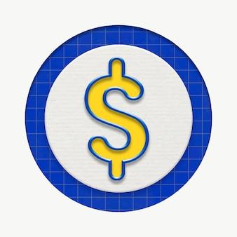Gráfico de negócios em moeda dólar para marketing