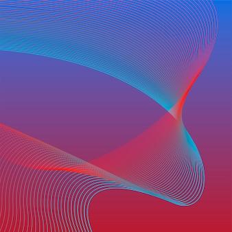 Gráfico de onda 3d vibrante colorido
