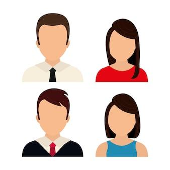Gráfico de perfil de pessoas