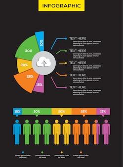 Gráfico de pizza infográfico