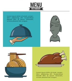 Gráfico de restaurante com informações e elementos