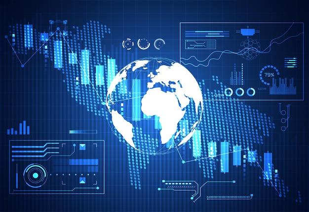 Gráfico de tecnologia de negócios de estoque