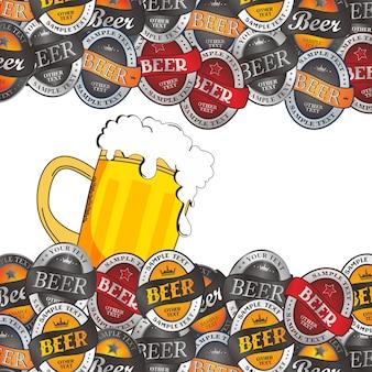 Gráfico de tema de cerveja gelada
