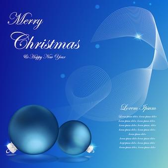 Gráfico de vetor de decoração de natal em fundo azul