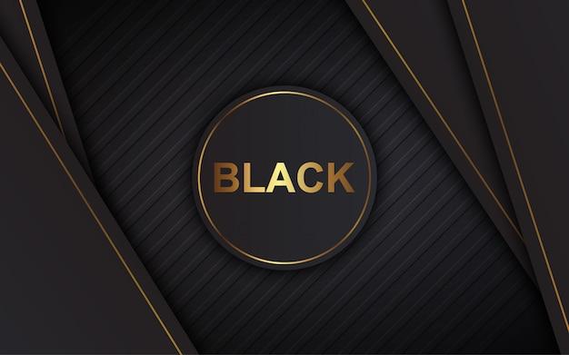 Gráfico de vetor de ilustração de camadas de sobreposição preto de luxo abstrato