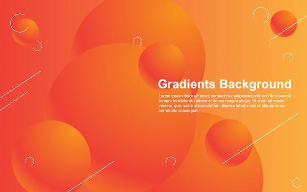 Gráfico de vetor de ilustração de cor de gradientes de fundo abstrato
