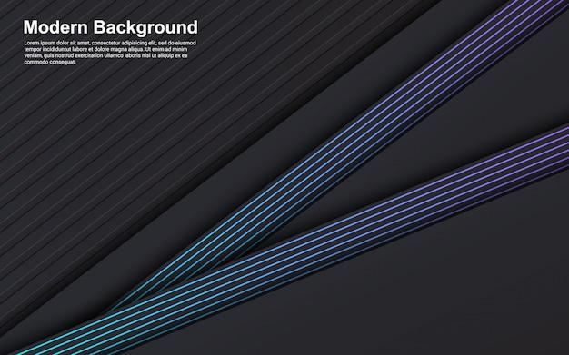 Gráfico de vetor de ilustração de cor preto abstrato e linha azul