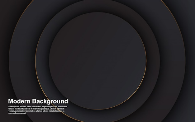 Gráfico de vetor de ilustração de luxo abstrato cor preta Vetor Premium
