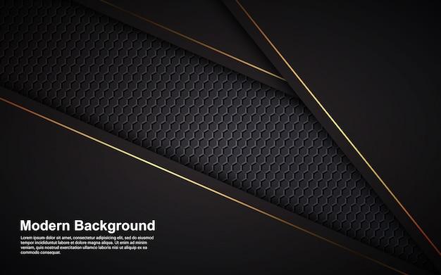 Gráfico de vetor de ilustração de luxo abstrato cor preta