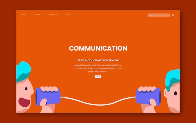 Gráfico de website de comunicação e informação