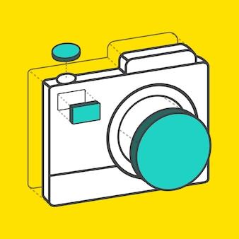 Gráfico digital criativo de câmera ilustrativa