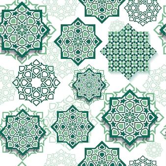 Gráfico do festival da arte geométrica islâmica da decoração.