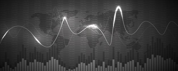 Gráfico do gráfico de dados financeiros. conceito de negócios
