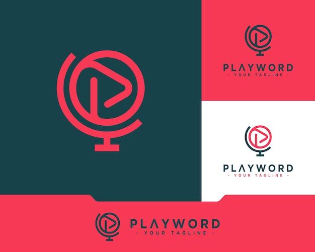 Gráfico do logotipo da palavra play