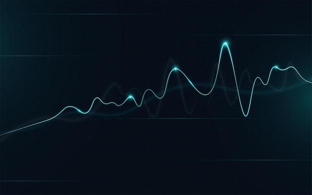 Gráfico do mercado financeiro de ações na negociação de investimentos no mercado de ações, ponto de alta, ponto de baixa. tendência de gráfico para ideia de negócio e todo o design de obra de arte. ilustração vetorial.