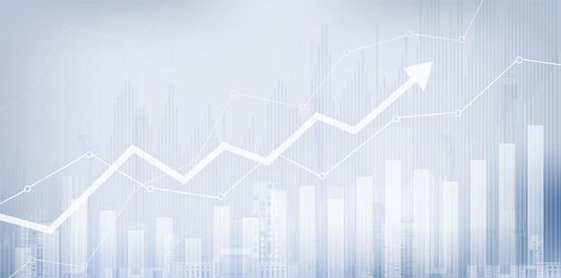 Gráfico do mercado financeiro de ações sobre negociação de investimentos no mercado de ações ponto de alta ponto de baixa