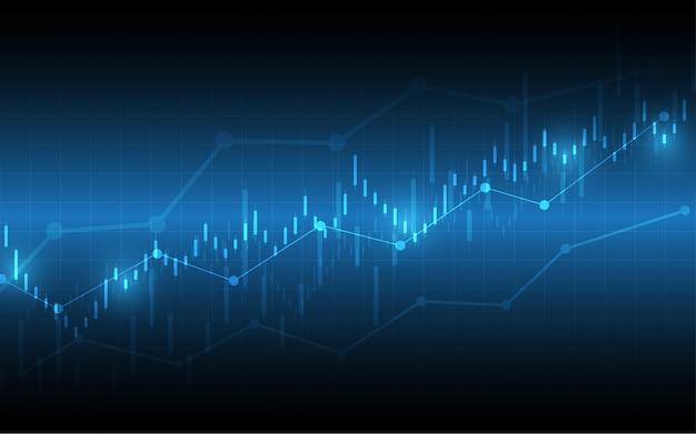 Gráfico financeiro, vara vela, gráfico, negócio
